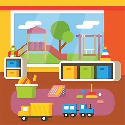 Clip Indoor Preschool Playground Classroom Kindergarten Illustrations