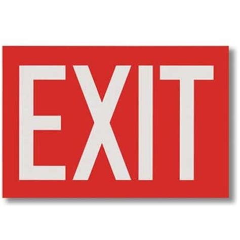Self Adhesive Vinyl Exit Sign  Brooks Equipment Brkbl112. Kakashi Decals. Silverback Decals. Frat Stickers. Custom Window Clings. Basketball Murals. Create And Print Stickers. Group Signs. Vascular Territory Signs