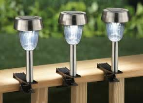 solar light clips for deck rail set of 3 spring summer