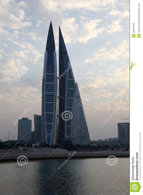 Bahrain World Trade Center Skyscrapers Editorial Stock ...