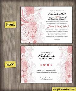 Custom floral wedding invitations from winnipeg canada for Floral wedding invitations canada
