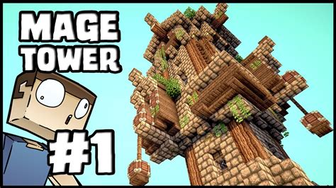 minecraft lets build mage tower part  youtube