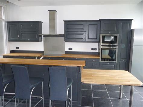 cuisine meubles gris cuisine equipée chêne gris foncé cuisines liebart