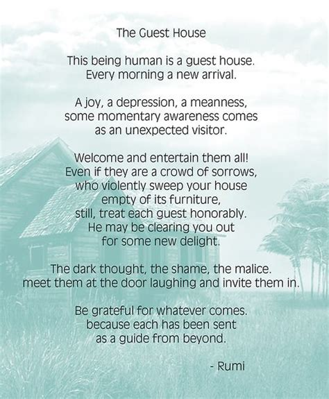 the guest house guest house by rumi search happy thoughts the