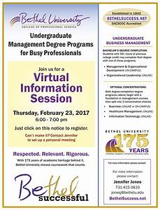 Virtual Information Session – Undergraduate | Bethel ...