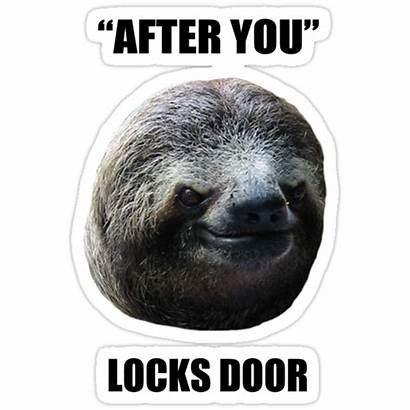 Sloth Evil Door Locks Redbubble