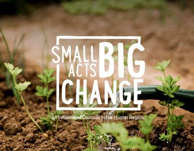 small acts big change muswellbrook shire council