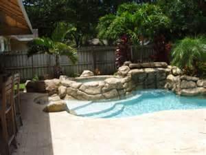 Small Rock Pool Backyard