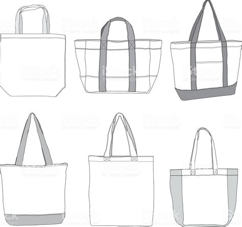 bag template various style tote bag template stock vector 638847588