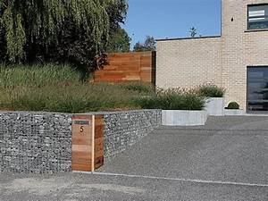 epingle par arcipelago design sur gabion wall pinterest With amenagement exterieur maison moderne 9 mur gabion dans le jardin moderne un joli element fonctionnel