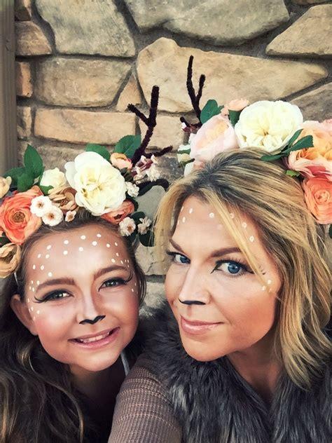 motherdaughter deer dyi costumes headbands makeup daughter halloween costumes mother