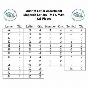 Quartet magnetic letter board sign qrt903m for Quartet letter set