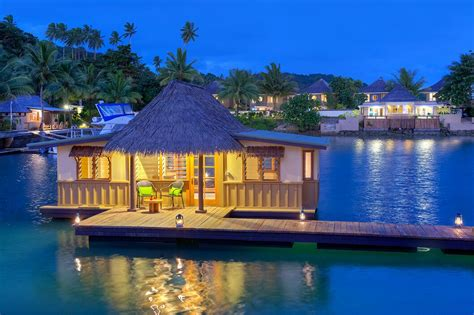 fiji vacation edgewater floating bure
