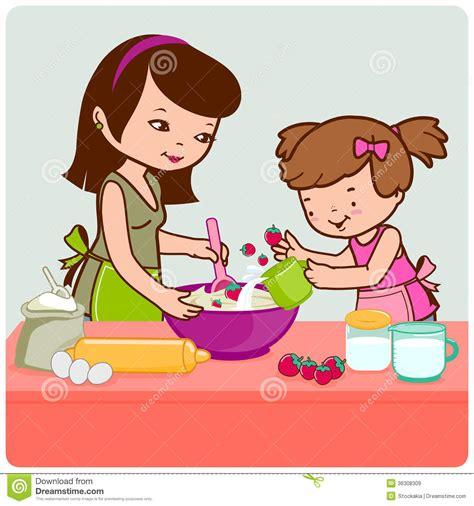faisant l amour dans la cuisine m 232 re et fille faisant cuire dans la cuisine images libres de droits image 36308309