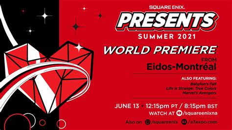 Square Enix Presents E3 2021: Everything You Need to Know ...