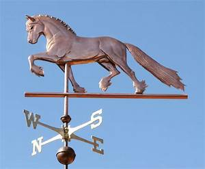 Friesian Horse Weathervane - Handcrafted In Copper