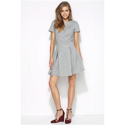 szara pikowana sukienka z kontrafałdami al20 na sukienki