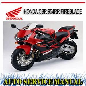 Honda Cbr 954rr Fireblade Bike Workshop Service Manual