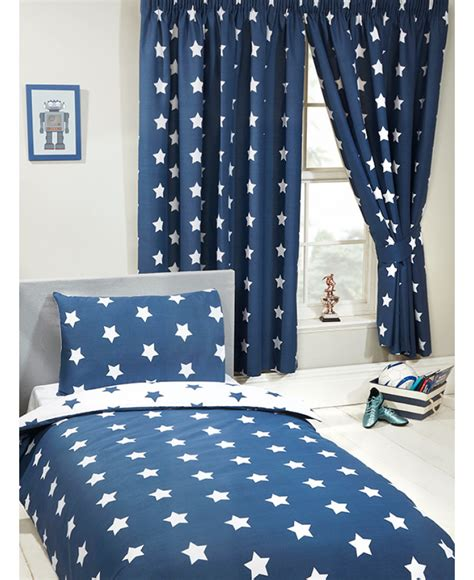 Navy Blue And White Drapes - navy blue and white lined curtains bedroom curtains