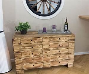 Vintage Industrial Möbel : palettenregal vintage kommode aus palettenholz im industrial style 120x47x72cm obstkisten ~ Bigdaddyawards.com Haus und Dekorationen