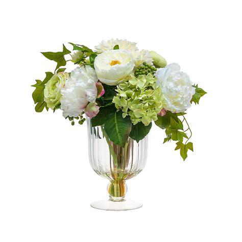 fiori vaso composizioni fiori finti in vaso vetro yf08 pineglen