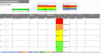 Issue Tracking Template Excel Excel Raid Log And Dashboard Template
