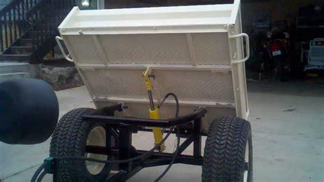 hydraulic garden tractor dump trailer youtube