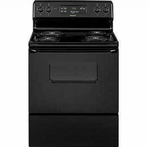 Hotpoint 30 In  5 0 Cu  Ft  Electric Range Oven In Black
