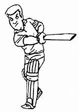 Cricket Coloring Pages Colouring Sport Sheets Clipart Animated Batter Sports Cartoon Batsman Colour Activity Activities Library Craft Clip Kidspot Cheerleading sketch template