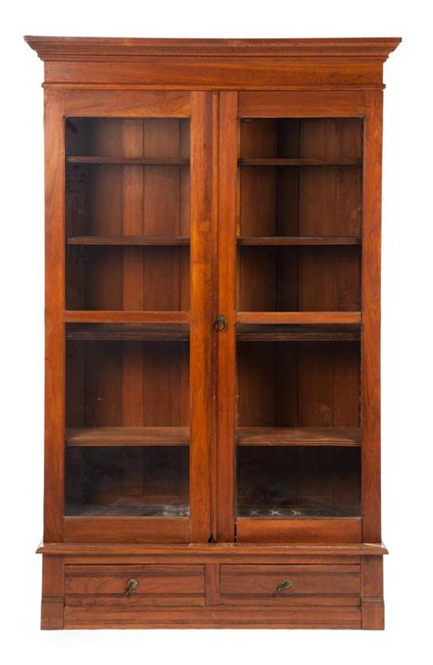 Two Door Bookcase by Three Two Door Library Bookcase