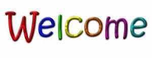 Welcome multicolour text transparent image