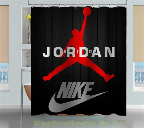 michael jordan chicago bulls 23 swoosh shower curtain
