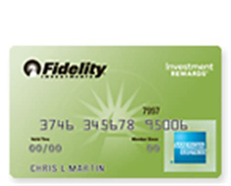 Check spelling or type a new query. One More New Credit Card: Fidelity Investment Rewards American Express - OUT AND OUT