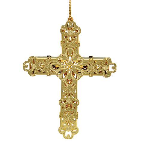decorative cross ornament chemart ornaments solid