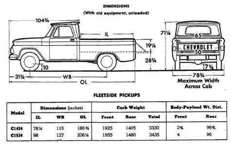 chevy truck frame dimensions   car