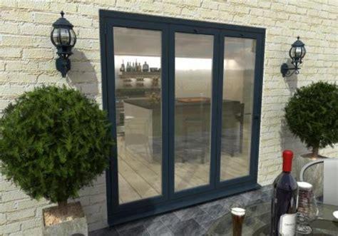 2100mm Grey Aluminium Bifold Doors