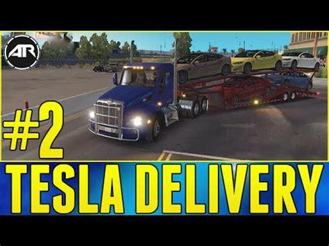 american truck simulator  tesla delivery part