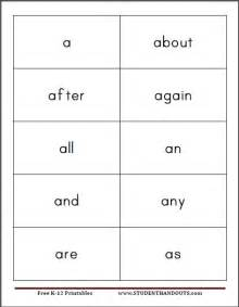 8 best images of free printable sight word card template