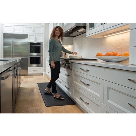 designer kitchen mats imprint comfort mat nantucket series black 26 in x 72 in 3253