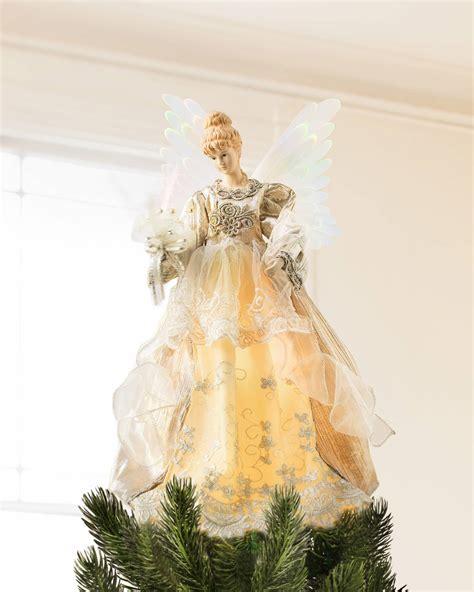fiber optic angel tree topper balsam hill