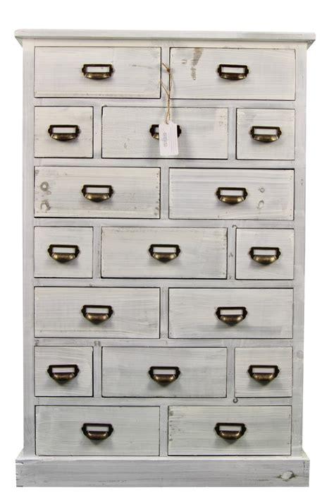 meuble tiroir blanc meuble semainier chiffonnier grainetier bois ceruse blanc