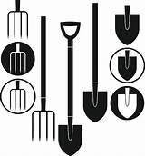 Shovel Vector Clip Pitchfork Illustrations Similar sketch template