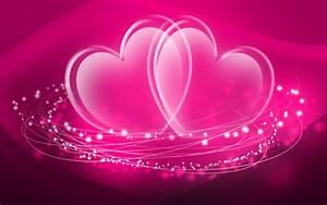 Twin Pink Heart Desktop Background Image - Images, Photos ...