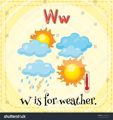 letter w is for walk stock vector image 71024801 flashcard letter w weather stock vector 279284147