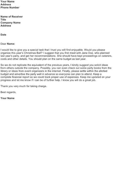 delegation letter sample   business letter