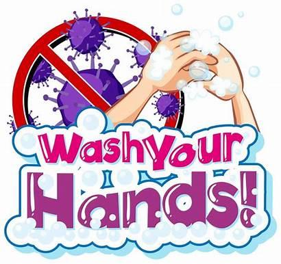 Theme Word Coronavirus Hands Poster Wash Washing