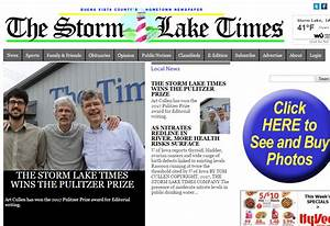 Editor of tiny Storm Lakes Times wins Pulitzer Prize for ...