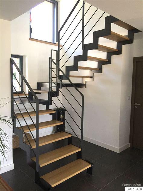 Escalier En Metal Interieur Fabrication Escalier Metal Bois Escalier Moderne En