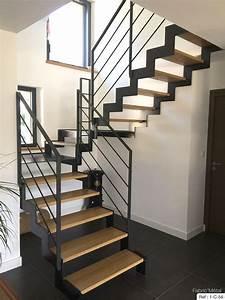 Escalier Exterieur Metal : fabrication escalier metal bois escalier moderne en ~ Voncanada.com Idées de Décoration