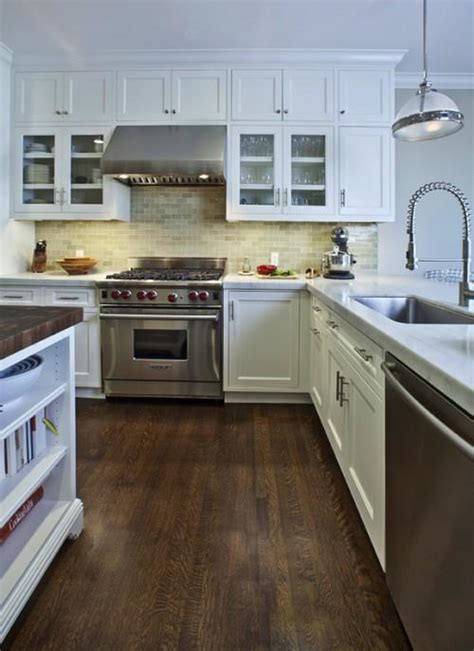 green subway tile contemporary kitchen andre